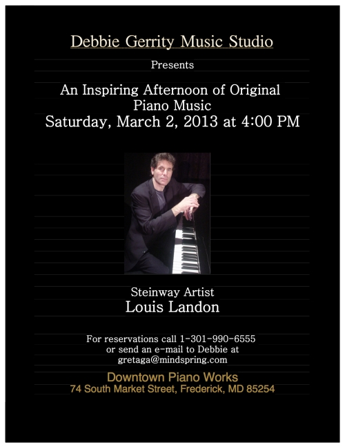 Louis Landon at Downtown Piano Works - Frederick, MD
