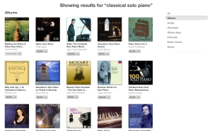 Classical Solo Piano iTunes search