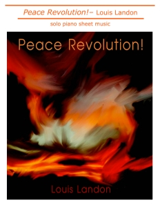 Peace Revolution new sheet music cover jpg