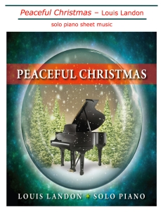 Peaceful Christmas new sheet music cover jpg